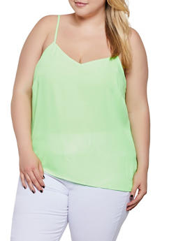 Plus Size V Neck Cami - 0803051061016
