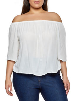 bd1740d07ce Plus Size Off the Shoulder Top
