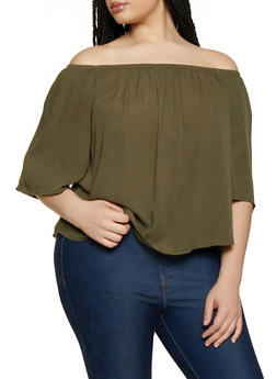 Plus Size Off the Shoulder Top | 0803054269389 - 0803054269389