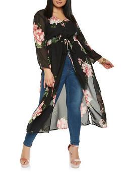 Plus Size Floral Maxi Top - 0803061630058