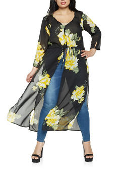 Plus Size Floral Maxi Top - 0803061630058