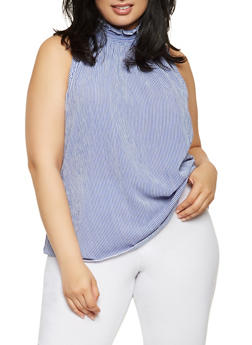Plus Size Smocked Neck Top - 0803072246213