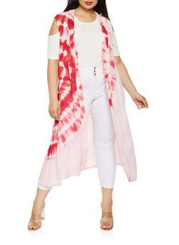 Plus Size Tie Dye Duster - 0803074180022