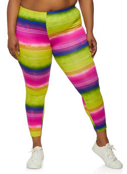 Pink and Blue Plus Size Leggings; Colourful leggings; Pink and Blue Mandala Leggings;  Plus Size Yoga Pants; Plus Size Leggings