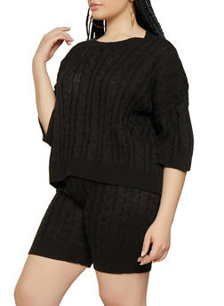 Womens Plus Size off Black Sweaters