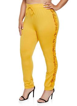 Plus Size Ruffled Joggers - 0850062124393