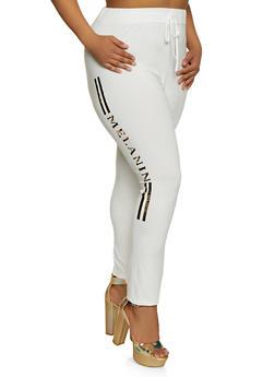 Plus Size Foil Melanin Graphic Leggings - 0850062128888
