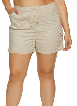 Plus Size Fixed Cuff Shorts | 0860038340278 - 0860038340278
