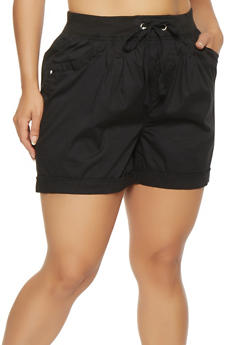 Plus Size Cargo Shorts - 0860038348275