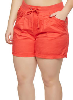 Plus Size Cargo Shorts - 0860038348275