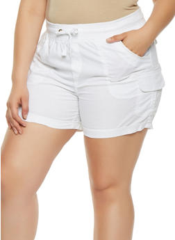 Plus Size Cargo Shorts - 0860038349281