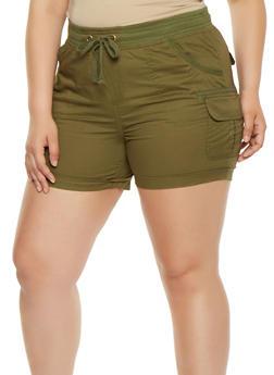 Plus Size Cargo Shorts - 0860038349281