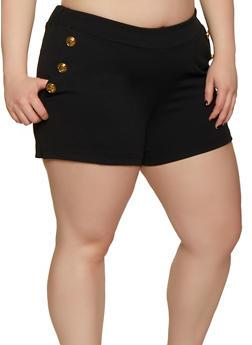 Plus Size Sailor Shorts - 0860056570010
