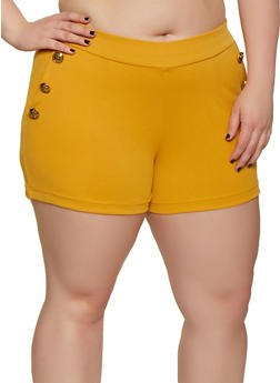 Plus Size Sailor Shorts - 0860056570010