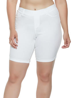 Plus Size Hyperstretch Bermuda Shorts - 0860056576224