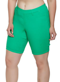 Plus Size Hyperstretch Bermuda Shorts - 0860056576224