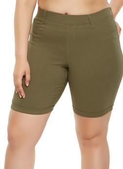 Plus Size Stretch Bermuda Shorts - 0860056576624