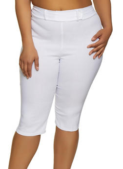 Plus Size Pull On Stretch Capris - 0865020624652