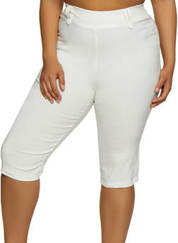 Plus Size Stretch Capris - 0865020624668