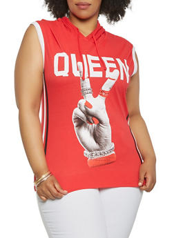 Plus Size Queen Graphic Tank Top - 0910033872358