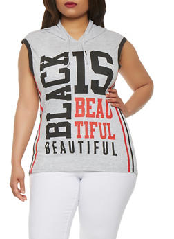 Plus Size Black is Beautiful Graphic Top - 0910033873137