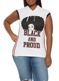 Plus Size Black and Proud Graphic Tank Top - 0910033873176