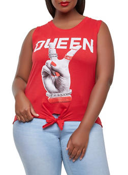 Plus Size Queen Graphic Tank Top - 0910033879926