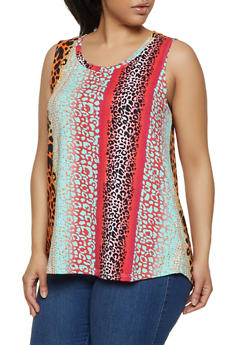 Womens Animal Print Tank Tops