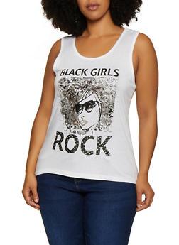 Plus Size Black Girls Rock Tank Top - 0910062701940
