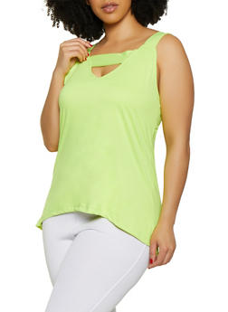 Green 3X Sleeveless Tops