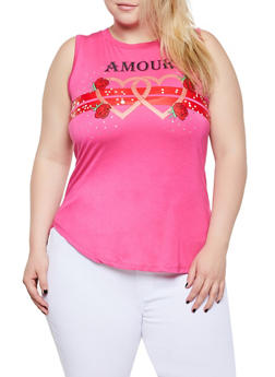 Plus Size Amour Graphic Tank Top - 0910062702917