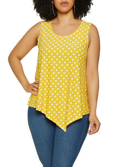 Plus Size Polka Dot Tank Top - 0910074015773