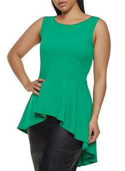 Womens Plus Size Green Knit Tops