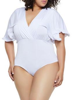 1c33fa27543 Plus Size Cape Back Bodysuit - 0911062121048
