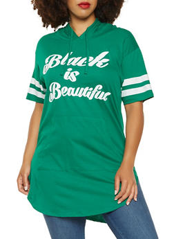 Plus Size Black is Beautiful Graphic Tunic Tee - 0912033873187