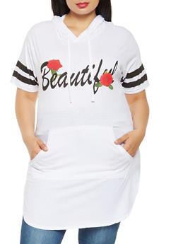 Plus Size Beautiful Graphic Tunic Top - 0912033879847