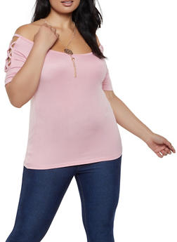 Soft Pink Plus Size Tops