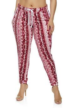 Plus Size Tie Dye Joggers - 0912038349309