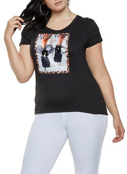Plus Size With Love For You Patch Tee - 0912043398625