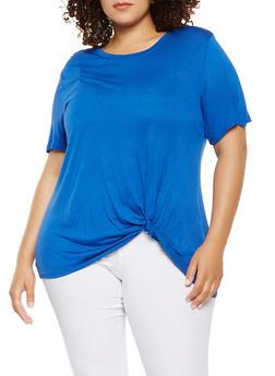 Plus Size Twist Front Tee - 0912054260629