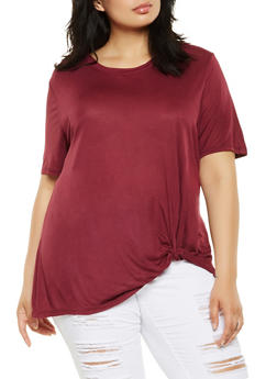 Plus Size Twist Front Tee - 0912054260629