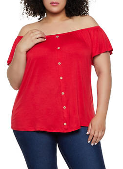 Plus Size Off the Shoulder Top | 0912054261320 - 0912054261320