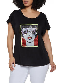 Womens Graphic Tops