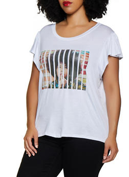 Plus Size Sliced Graphic Tee - 0912058753722