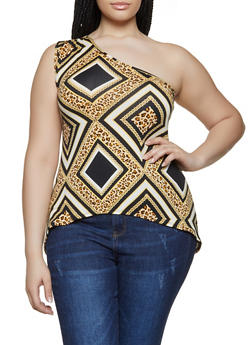 Plus Size off One Shoulder Tops