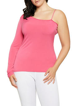 Plus Size One Sleeve Top - 0912062127460