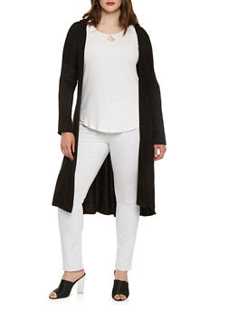 Plus Size Jersey Duster - 0912062701518