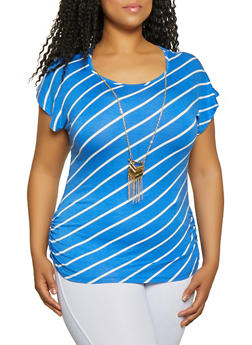 Plus Size Ruched Sides Tops