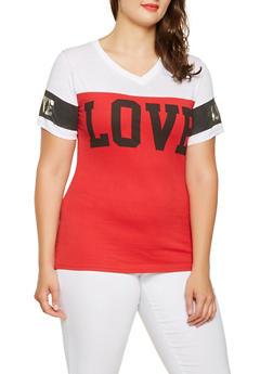 Plus Size Love Graphic Tee - 0912063408159