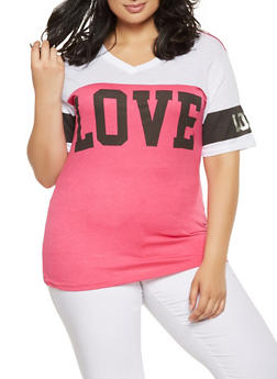 Plus Size Love Graphic Tee - 0912063408159